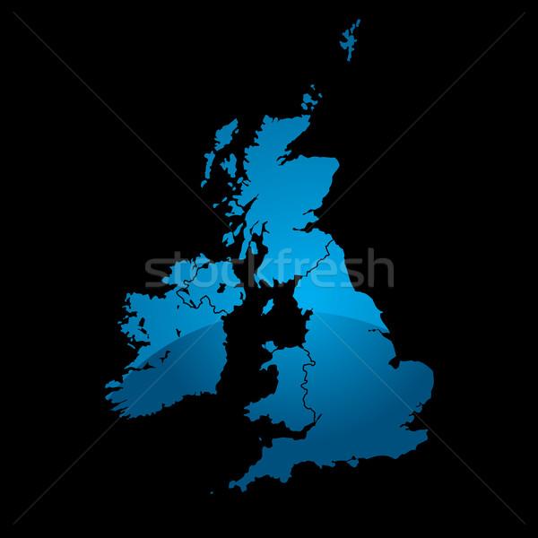 uk map blue divide Stock photo © nicemonkey