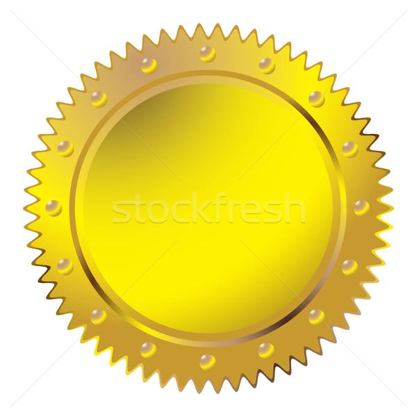 Wax golden seal Stock photo © nicemonkey