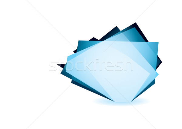 Glass shard cobalt Stock photo © nicemonkey