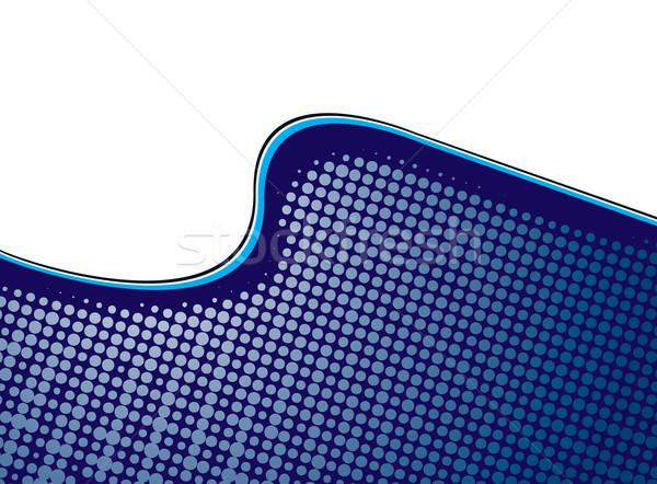 halftone wave illustration Stock photo © nicemonkey