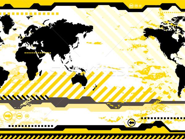 Nowoczesne świat cyfrowe streszczenie ilustrowany jasne Zdjęcia stock © nicemonkey
