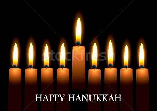 Hanukkah candles Stock photo © nicemonkey