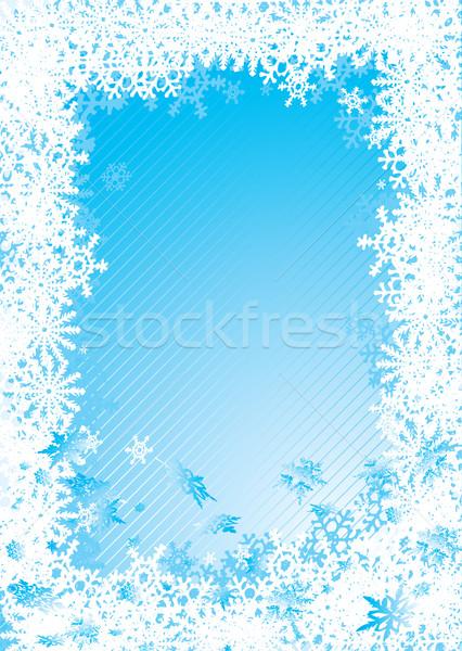 snowflake fall cold Stock photo © nicemonkey