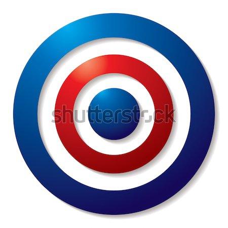 üç renkli hedef kırmızı beyaz mavi gölge Stok fotoğraf © nicemonkey