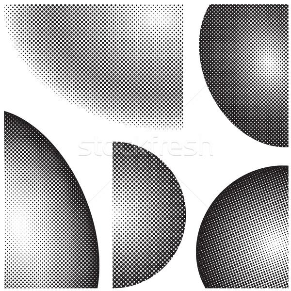 Nero mezzitoni elementi raccolta design bianco nero Foto d'archivio © nicemonkey