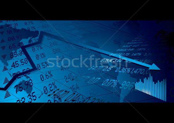 Business beurs financiële wereldkaart kaart achtergrond Stockfoto © nicemonkey