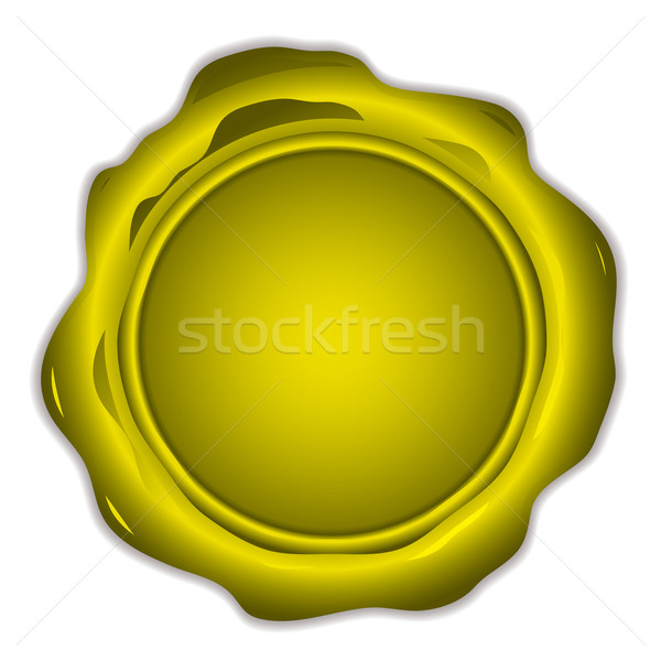 gold wax seal round Stock photo © nicemonkey