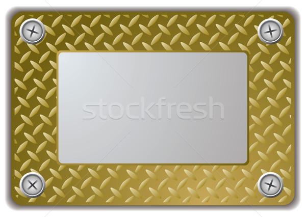 metal mirror frame Stock photo © nicemonkey
