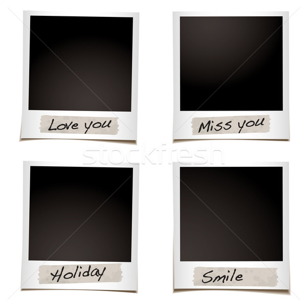 Sentiments photographie bande spéciale main Photo stock © nicemonkey