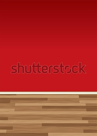 wood floor wall red Stock photo © nicemonkey