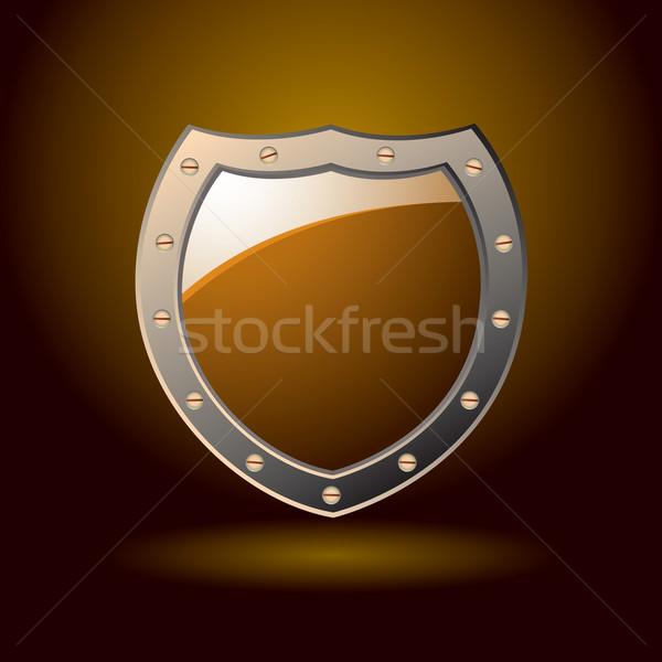 Secure shield blank Stock photo © nicemonkey