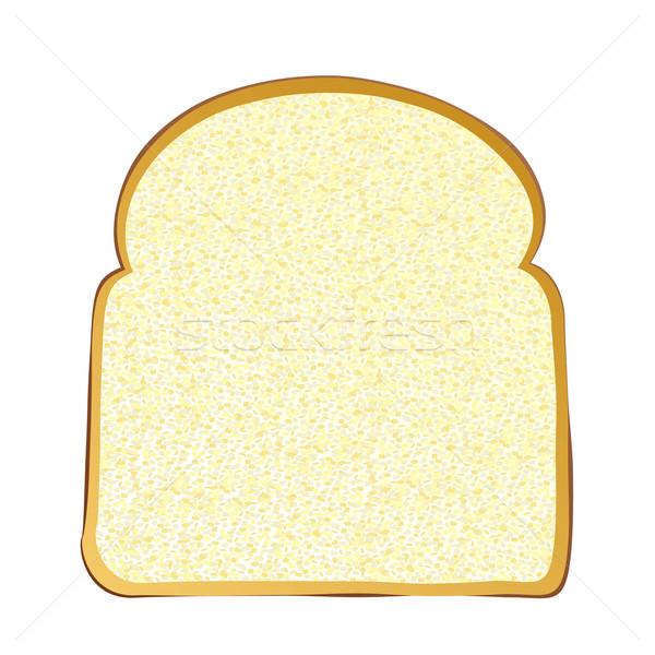 Szelet fehér kenyér teljeskiőrlésű reggeli szendvics friss Stock fotó © nicemonkey