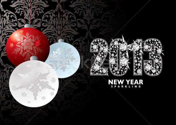 Natale capodanno 2013 natale buon anno Foto d'archivio © nicemonkey
