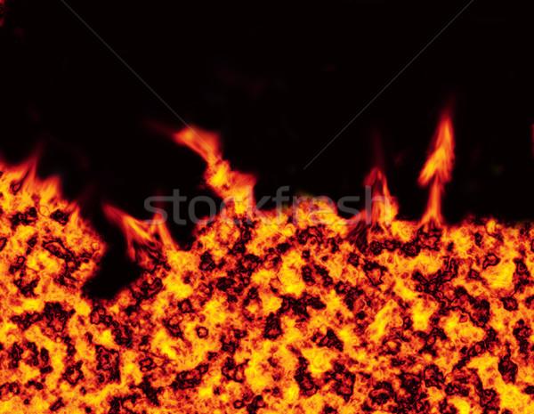 Hel brand zwarte achtergrond zoals textuur Stockfoto © nicemonkey
