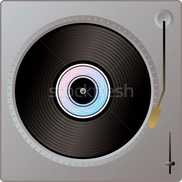 レコードプレーヤー 実例 銀 金属 パーティ 1泊 ストックフォト © nicemonkey