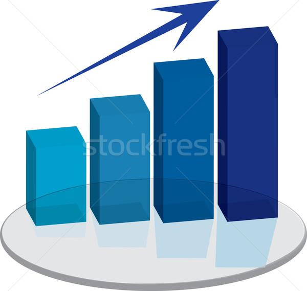 Vendite blu up arrow grafico show Foto d'archivio © nicemonkey