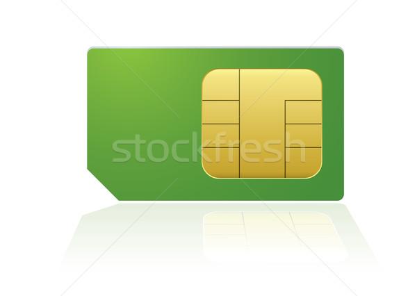 Green phone sim Stock photo © nicemonkey