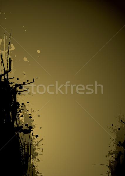 ink drag gold Stock photo © nicemonkey