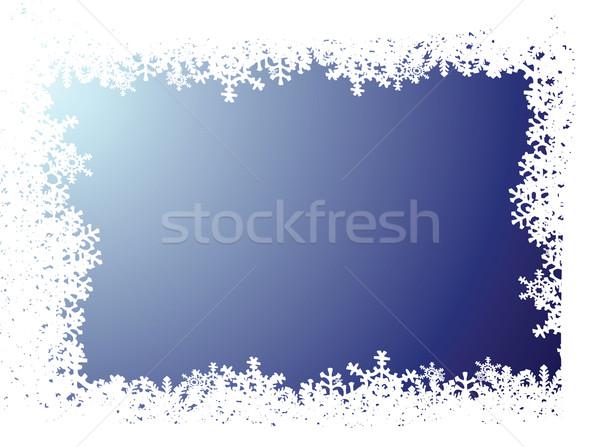 snowflake blue background Stock photo © nicemonkey