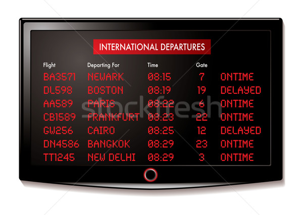 lcd airport departure Stock photo © nicemonkey