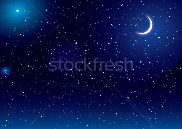 Space scape moon Stock photo © nicemonkey