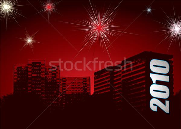 new year fireworks 2010 urban Stock photo © nicemonkey