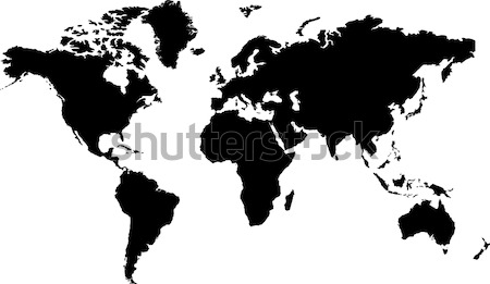 world map black Stock photo © nicemonkey