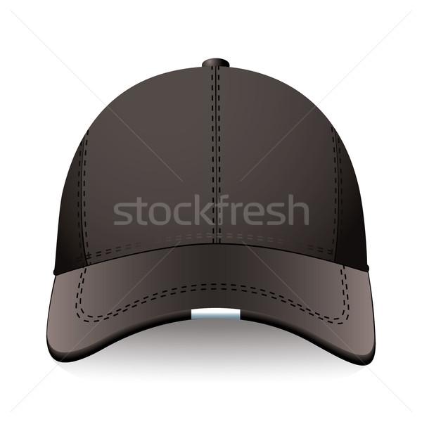 Fekete sportok sapka modern baseballsapka hirdetés Stock fotó © nicemonkey