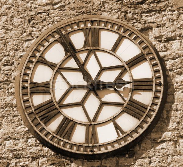 sepia clock face Stock photo © nicemonkey