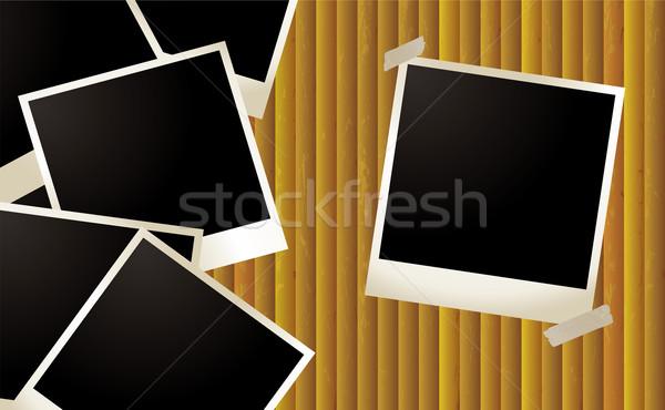 Polaroid hullám szoba saját képek textúra Stock fotó © nicemonkey