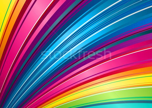 Arco iris ventilador ilustración raya patrón Foto stock © nicemonkey