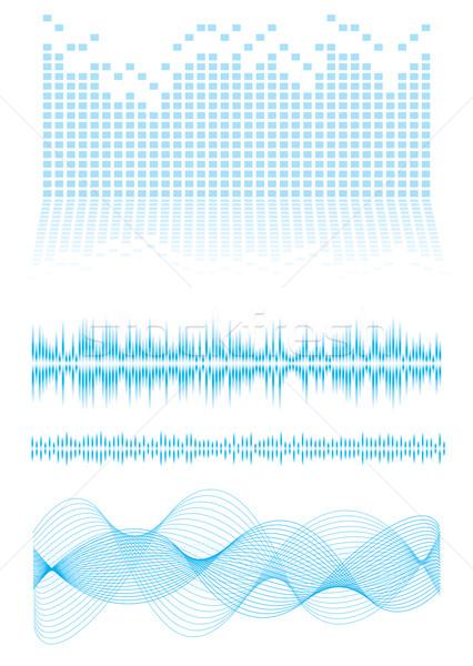 Hangszínszabályozó zene kék hang hullámok Stock fotó © nicemonkey