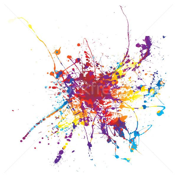 paint splat rainbow Stock photo © nicemonkey