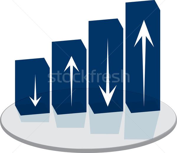 Vendite blu grafico a barre confusi futuro business Foto d'archivio © nicemonkey