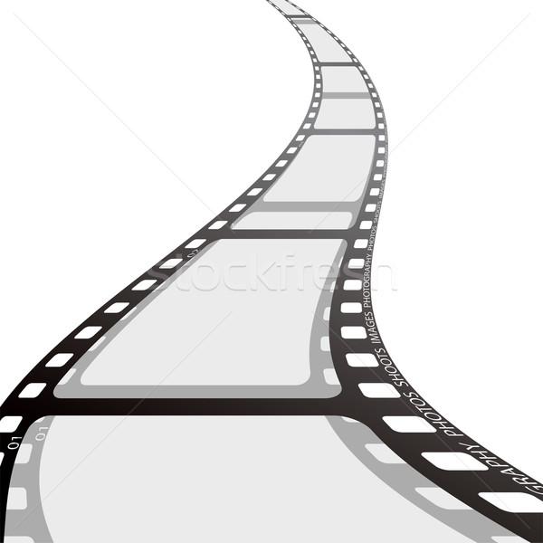 Stock fotó: Filmszalag · tekercs · hullám · darab · kamera · film