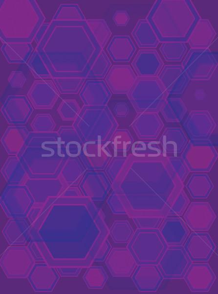 hexa gone pruple Stock photo © nicemonkey