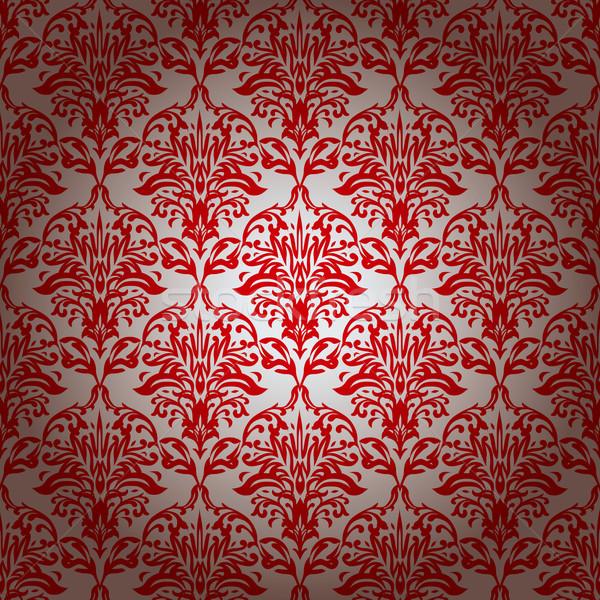 чернила повторять цветочный красный серебро Сток-фото © nicemonkey