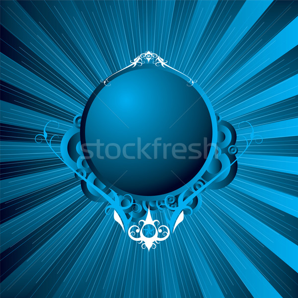 modern shield blue Stock photo © nicemonkey