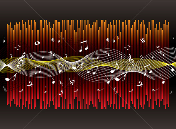 Musica esperienza illustrato musicale grafico abstract Foto d'archivio © nicemonkey