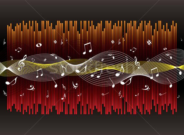 Muzyki doświadczenie ilustrowany musical graficzny streszczenie Zdjęcia stock © nicemonkey