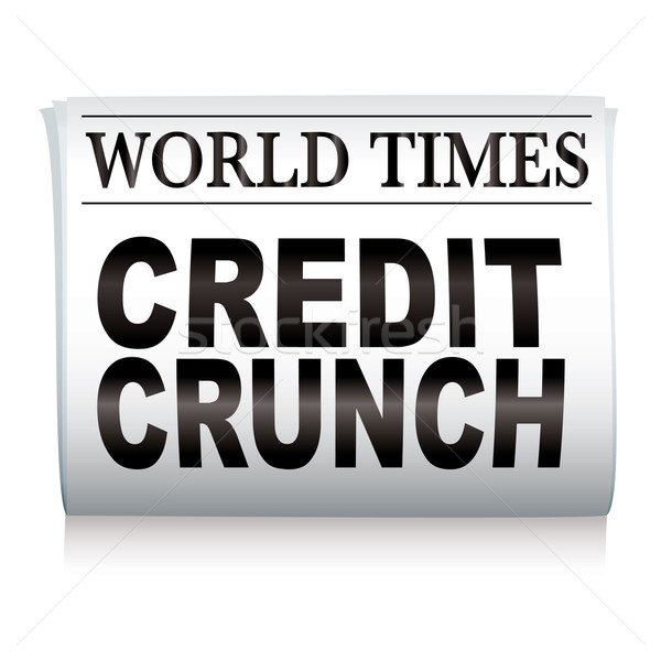 newspaper credit crunch Stock photo © nicemonkey