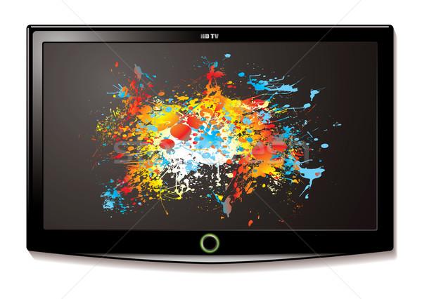 LCD TV Splat screen Stock photo © nicemonkey