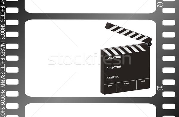 Сток-фото: кинопленка · иллюстрация · фильма · комнату · собственный · текста