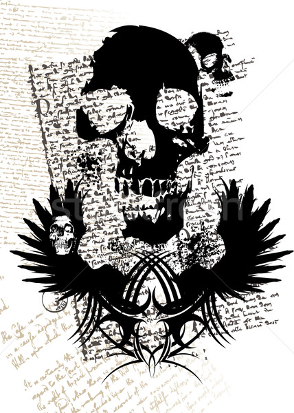 gothic skull Stock photo © nicemonkey