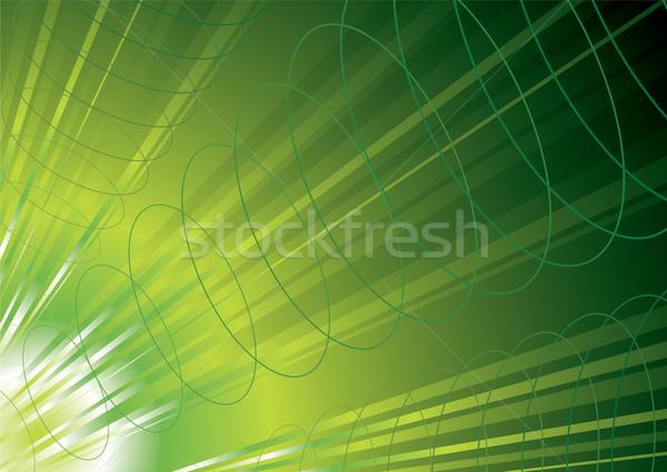 Groene energie golven macht abstract ontwerp Stockfoto © nicemonkey