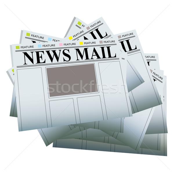 újság boglya köteg újságok saját szöveg Stock fotó © nicemonkey