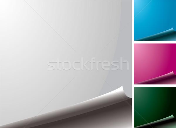 Página variación cuatro color página en blanco borde Foto stock © nicemonkey