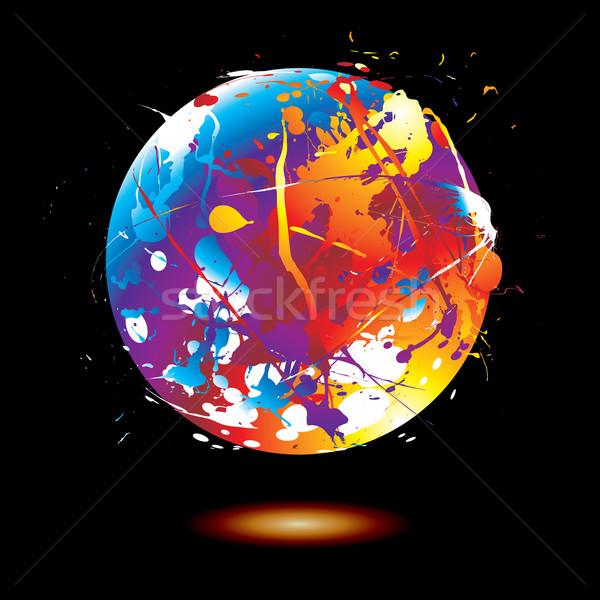 paint splat globe Stock photo © nicemonkey