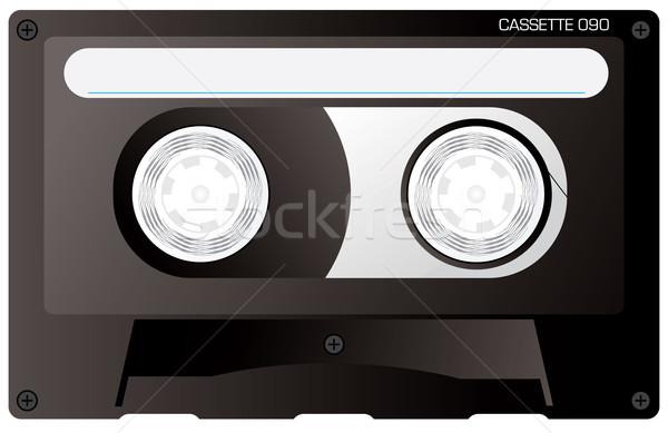 cassette tape black Stock photo © nicemonkey