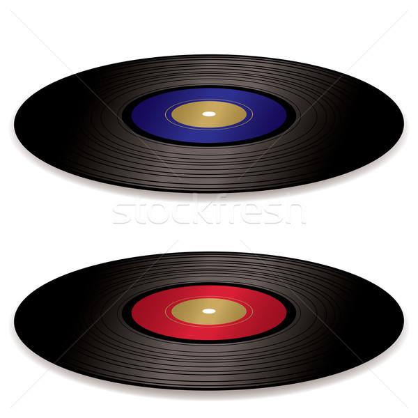 Lp record album paar ouderwets vinyl Stockfoto © nicemonkey